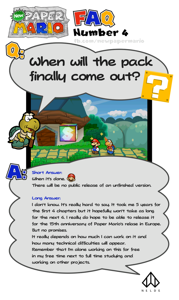 New Paper Mario: FAQ Number 4 by Nelde