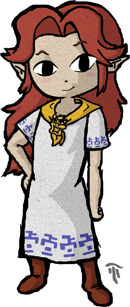 Malon in wind waker style by Nelde