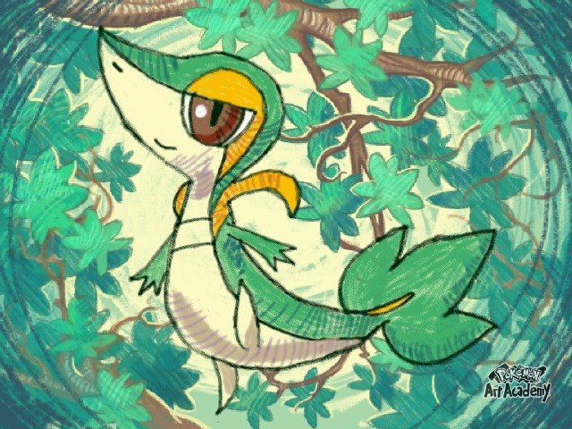 Snivy's Forest by AuraFlareRiolu