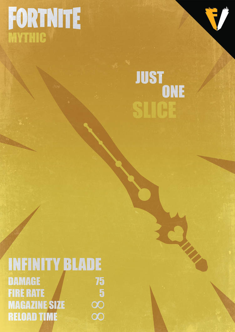 fortnite weapons mythic infinity blade by fallenv3gas - fortnite infinity blade images