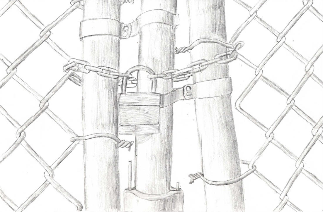 Chain link fence drawings bing images