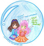 AT - Upanti and Ju in a bubble