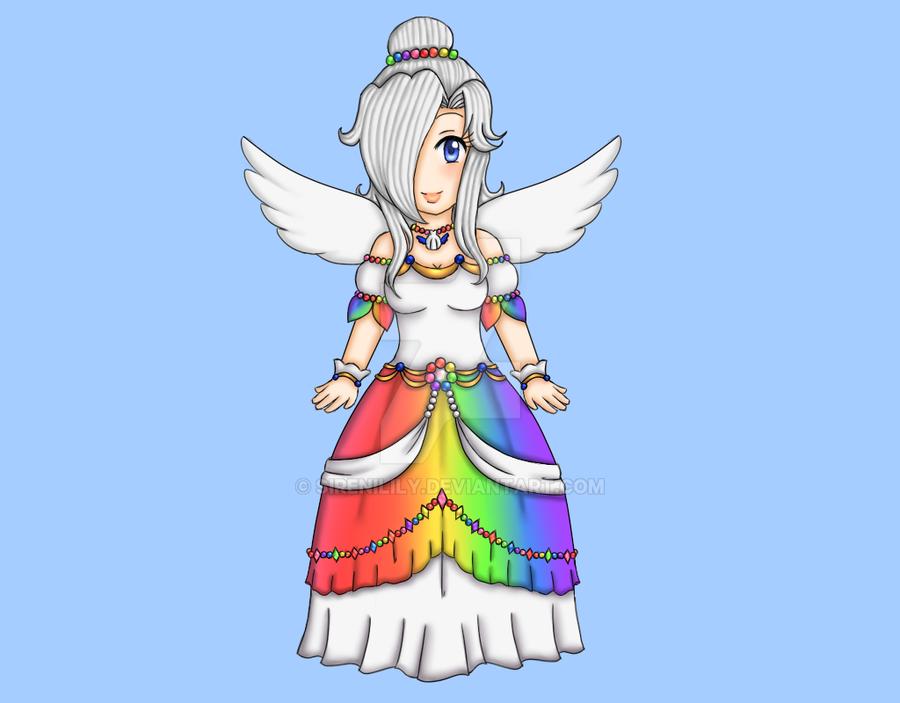 Comm - Angel Kake Dachi in Royal Dress by Juliana1121