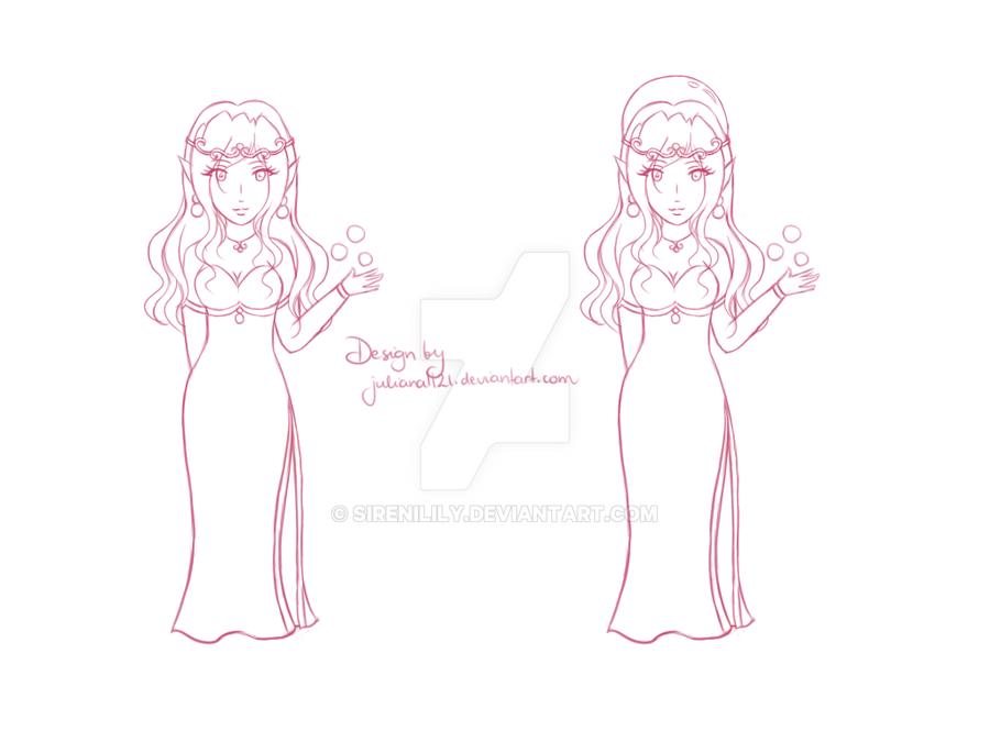 Comm - Elf Lady design by Juliana1121