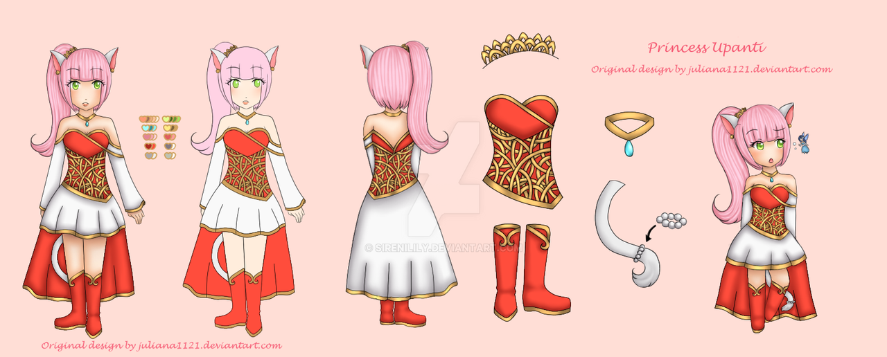 Reference page - Princess Upanti of the Nekos by Juliana1121
