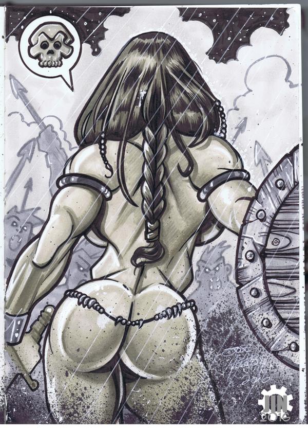 Rainy Day Warrior-Sketchbook by JINworks
