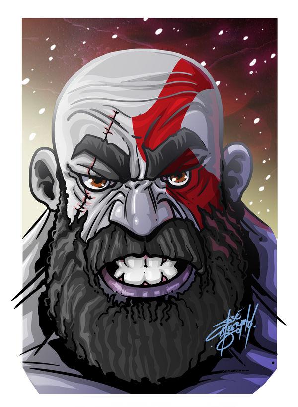 Kratos By Jinworks Art On Deviantart