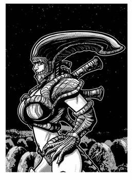 Girl In The Alien Bikini