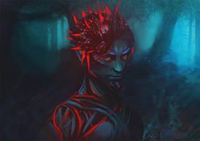 Sylvari the Nightborn by outstarwalker
