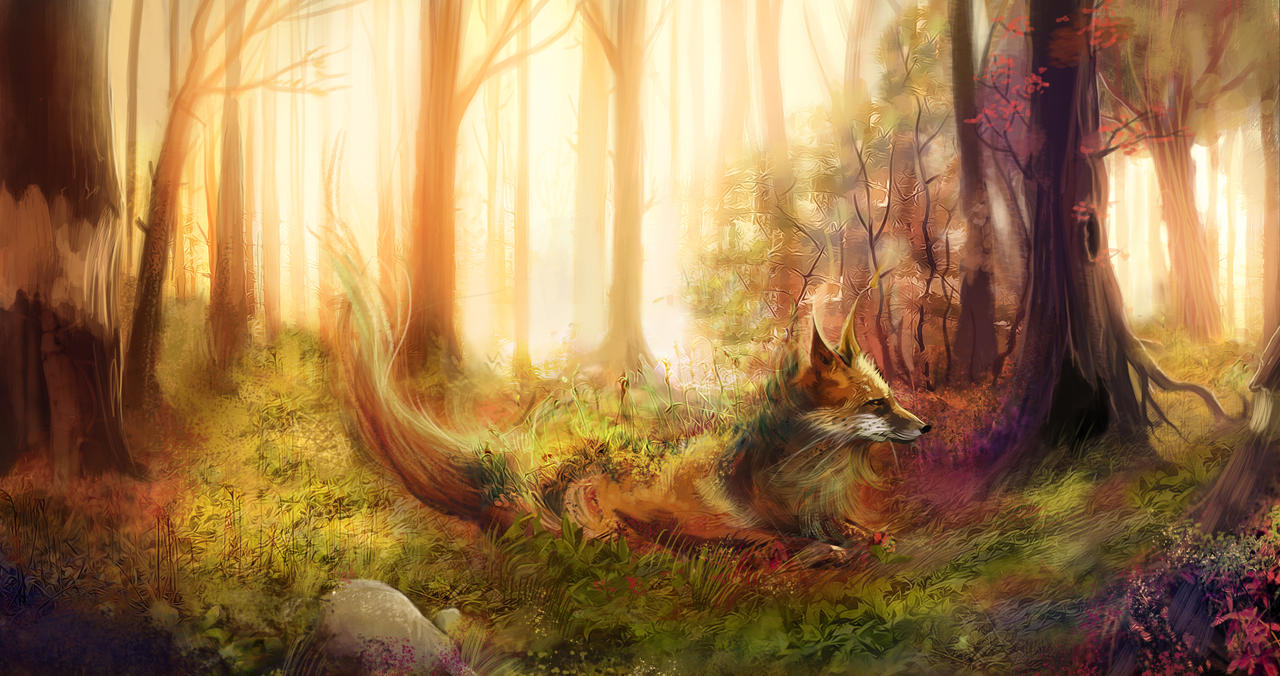 Forest Spirit - The Fox by outstarwalker