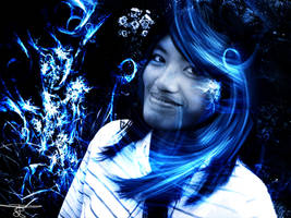 'Blue floral' - vordarain by vordarain