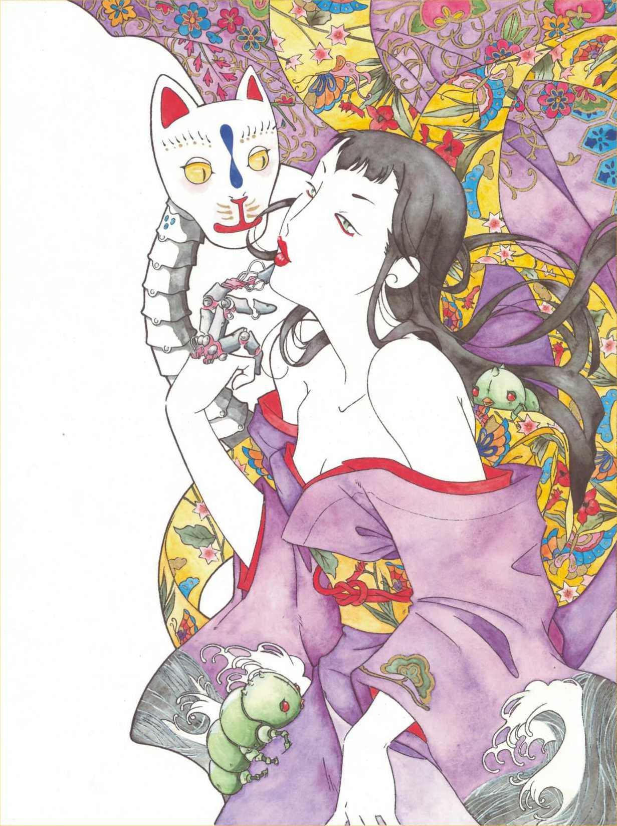 Alicia and Kitsune by fio