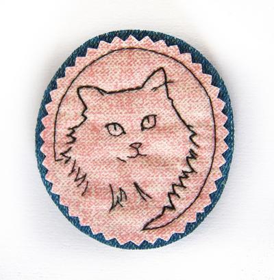 Tebra - Fabric Brooch by fio