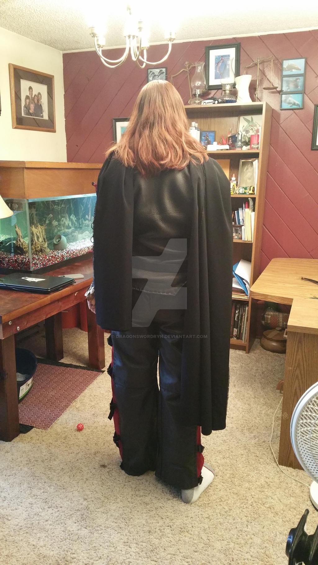 Black widow back by DragonswordRyn