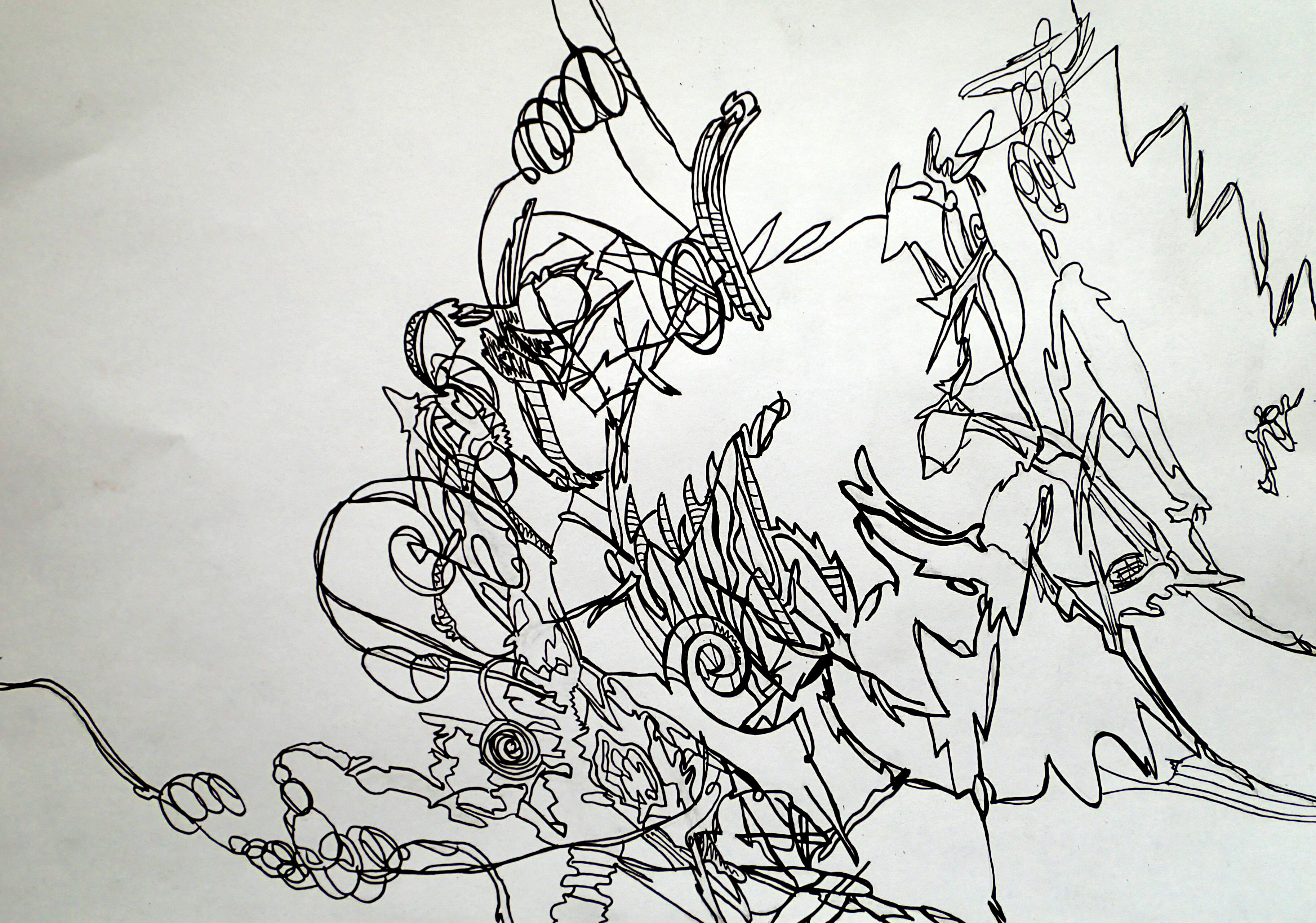 Line Art Abstract : Abstract line art drawings imgkid the image