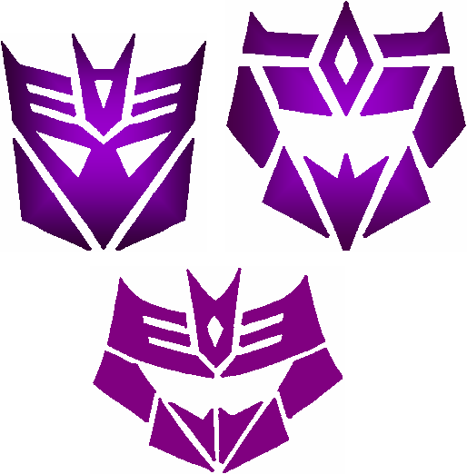 the gallery for gt decepticons logo purple