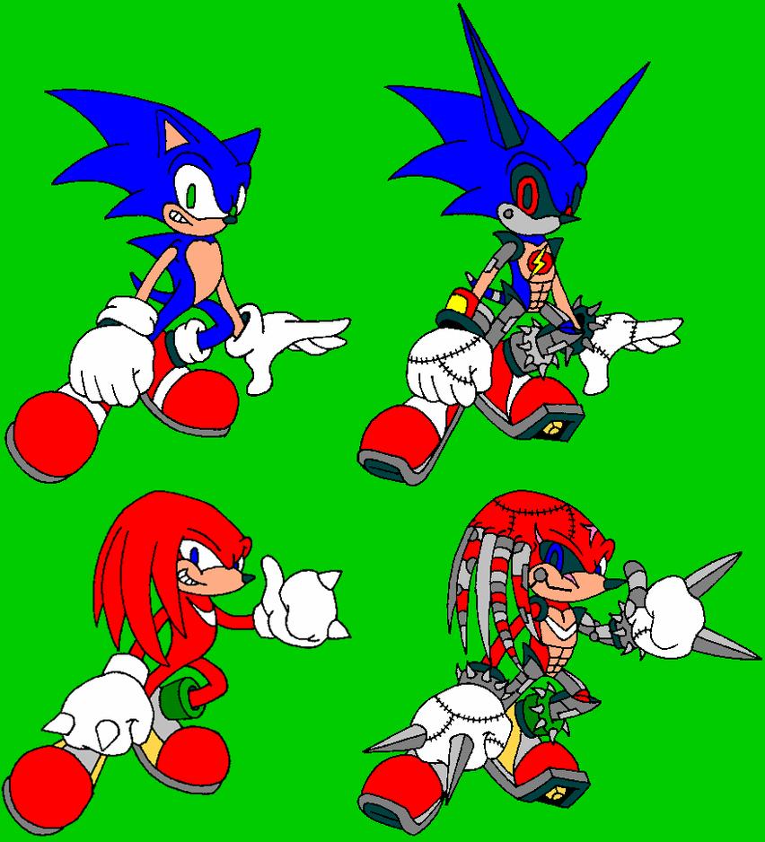 Cyborg Sonic + Cyborg Knuckles by avianis on DeviantArt