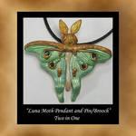 Pendant Pin Luna Moth