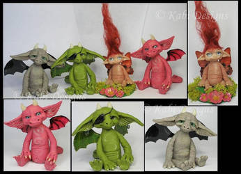 Polymer Clay Fantasy Littles Creatures by KabiDesigns