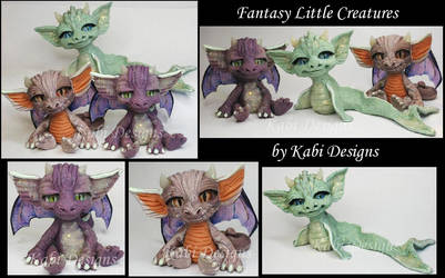 Handmade Sea Dragon and Dragons creatures