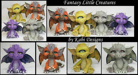 Little Ceatures Handmade polymer clay Dragons