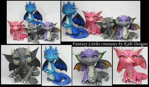 Handmade Polymer clay Dragons
