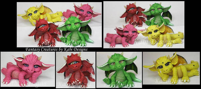 Little Dragons Handmade with polymer clay