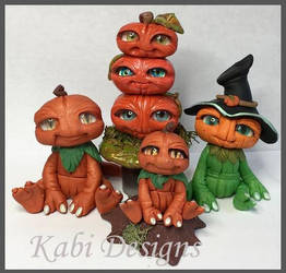 Polymer clay Fall Fantasy Handmade creatures