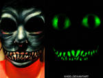 Glow-in-the-Dark Cheshire Cat Makeup