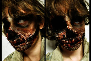Zombie Makeup: Knocked My Teeth Out by Khdd