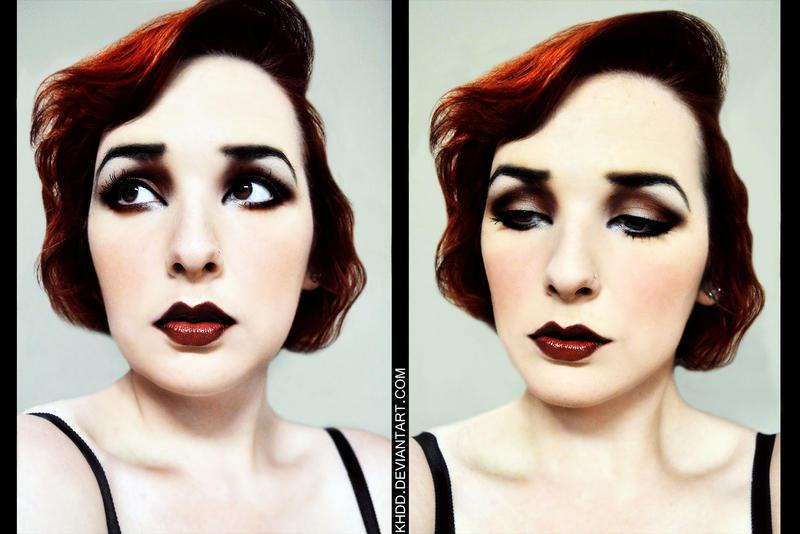 Flapper makeup