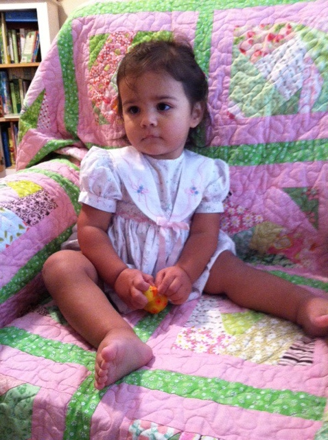Isabella on  Quilt Covered Sofa by JosephThomas