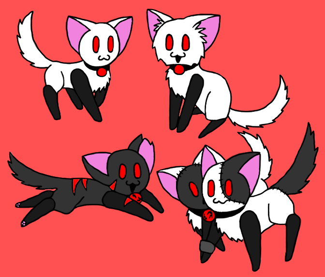 Portal Cats Colored 3 By Blam13 On DeviantArt