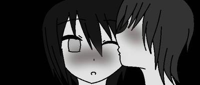 Black and white kiss by KayaOkazaki