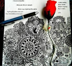 Escape through doodling by Nza-arteek