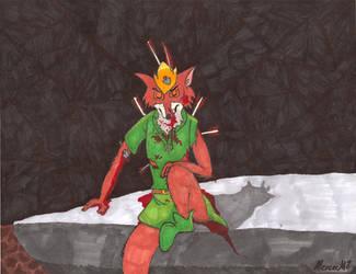 Battle-Scarred Robin Hood by MercerMZ