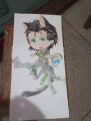 Chibi Loki Terminado  - Chibi Loki finished by DanielaKairyu