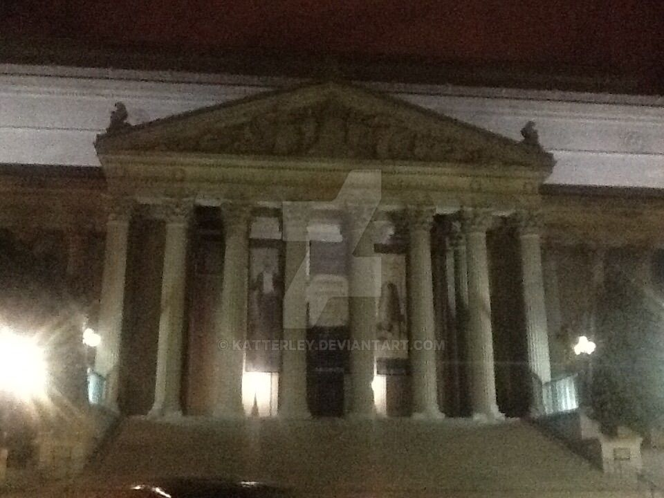 National Archives at Night by katterley