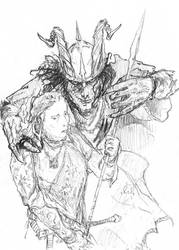 Gilgalad and Sauron