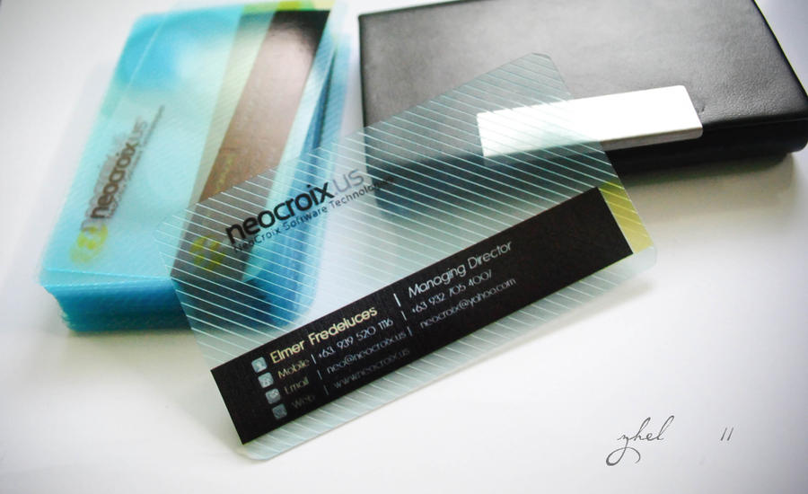 transparent business card by xeane21