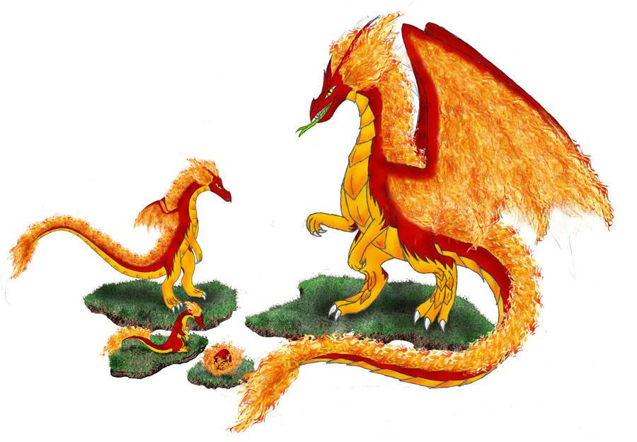 Fire Dragon Family By Dakuness On DeviantArt