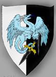 blue shield dragon