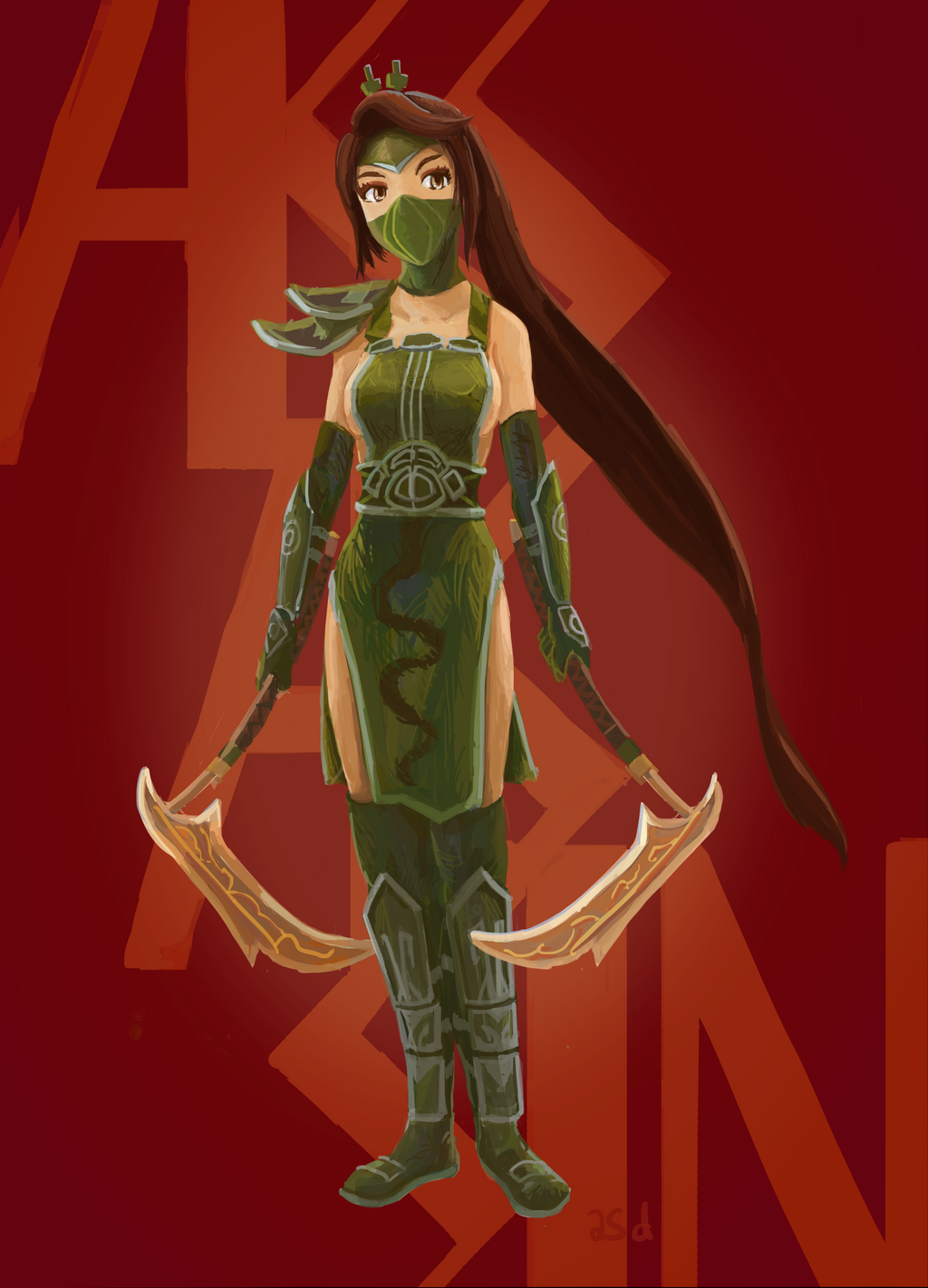 Servant Assassin Akali by shuandang