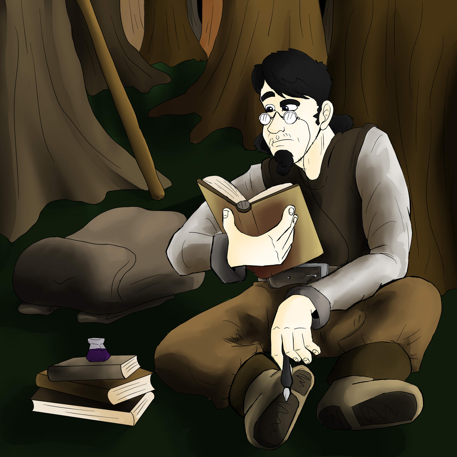 The Scholar and his study by Senselesssquirrel