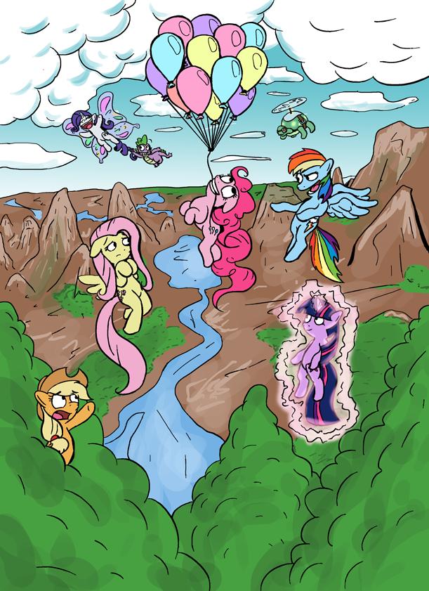 Flying ponies by Senselesssquirrel