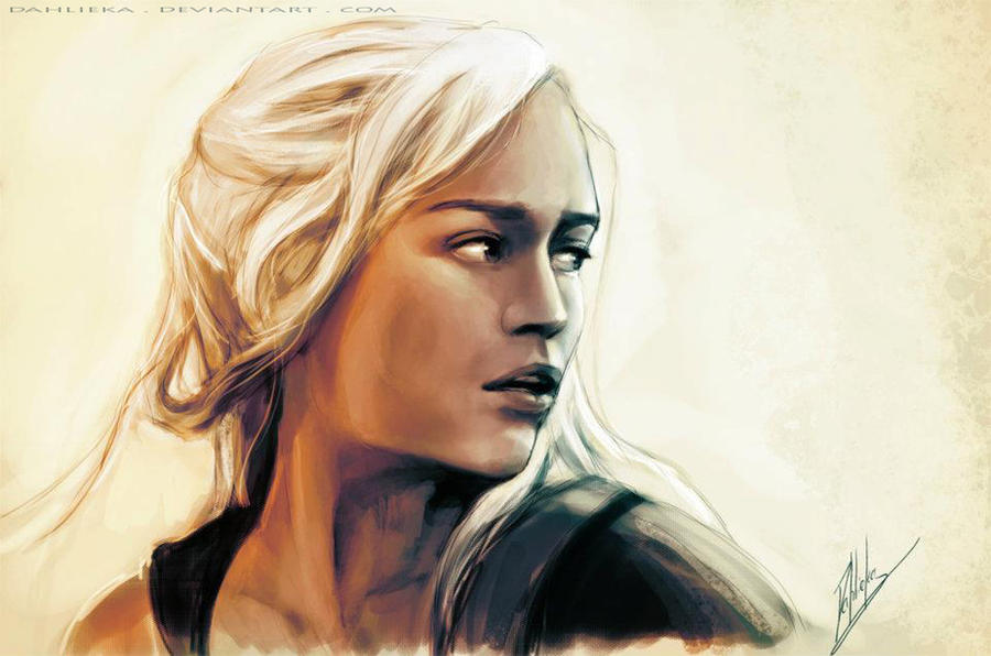 Daenerys - Sketch and making of by Dahlieka