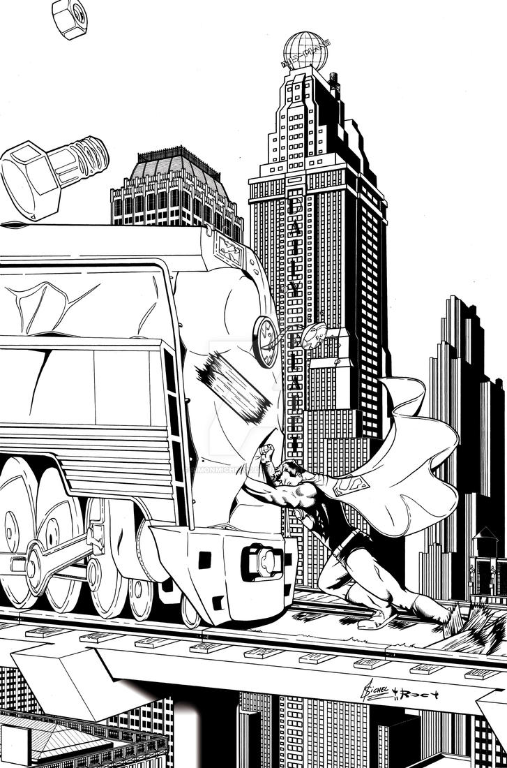 superman Vs Train by simonmichel00
