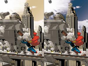 superman Vs Train colors