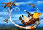 Rocketeer air battle