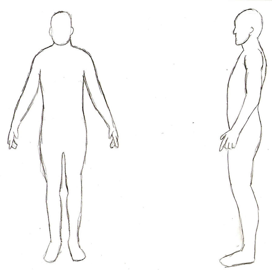 human body outline sketch photo24